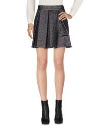Le Complici - Gray Mini Skirt - Lyst