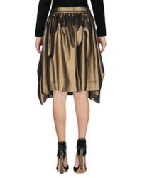 Vivienne Westwood Anglomania - Brown Knee Length Skirt - Lyst