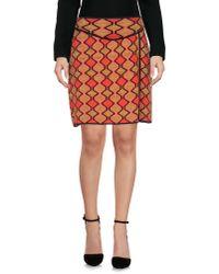 M Missoni - Red Knee Length Skirt - Lyst