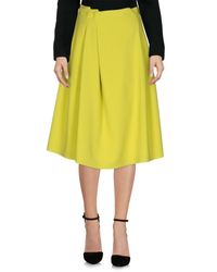 Jil Sander Navy | Green 3/4 Length Skirt | Lyst