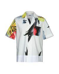 Camicia di MSGM in White da Uomo