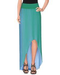 Stella McCartney - Green Knee Length Skirt - Lyst