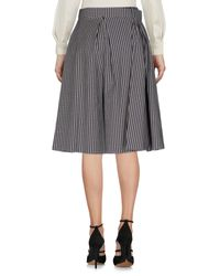 Suoli Blue Knee Length Skirt