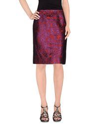 Dries Van Noten Red Knee Length Skirt