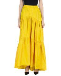Blugirl Blumarine Yellow Long Skirt