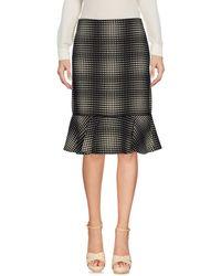 Emanuel Ungaro Black Knee Length Skirt