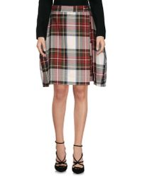 Vivienne Westwood Anglomania - White Knee Length Skirt - Lyst