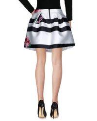 No Secrets - White Knee Length Skirt - Lyst