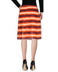 Prada Orange Knee Length Skirt
