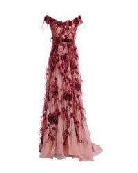 Marchesa Pink Long Dress