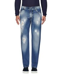 Squad² Blue Denim Trousers for men