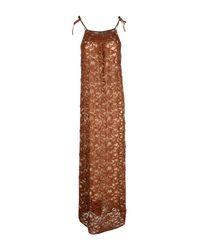 Roberto Collina Brown Long Dress
