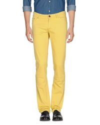 Etro Yellow Casual Pants for men