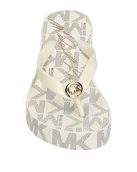 Michael Kors White Toe Post Sandal