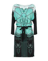 Versace Green Kurzes Kleid