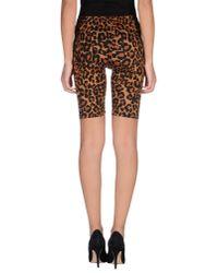 Pieces - Brown Bermuda Shorts - Lyst