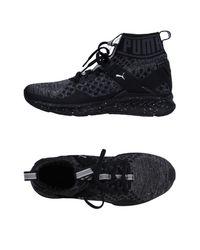 PUMA Black High-tops & Sneakers
