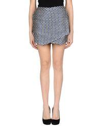 Pinko | Blue Mini Skirt | Lyst