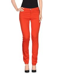Armani | Red Casual Pants | Lyst
