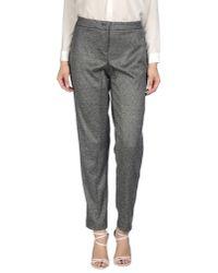 Blue Les Copains - Gray Casual Pants - Lyst