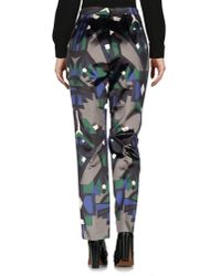 MSGM Green Casual Trouser