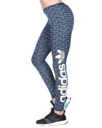 Adidas Originals - Blue Leggings - Lyst