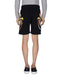 Marcelo Burlon - Black Bermuda Shorts for Men - Lyst