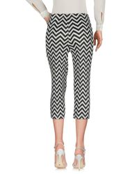 Pleats Please Issey Miyake - Blue 3/4-length Trousers - Lyst