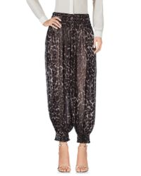 Norma Kamali - Black 3/4-length Trousers - Lyst