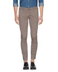 Alessandro Dell'acqua | Gray Casual Trouser for Men | Lyst