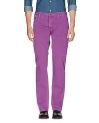 Burberry Purple Casual Pants for men