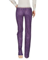John Galliano | Purple Casual Trouser | Lyst