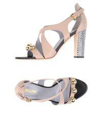 Pollini Gray Sandals