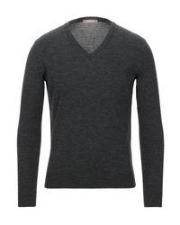 Pullover di Andrea Fenzi in Gray da Uomo