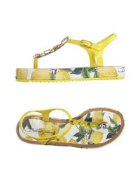 Dolce & Gabbana Yellow Zehentrenner