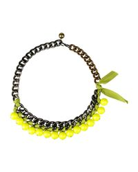 Lanvin Green Necklace