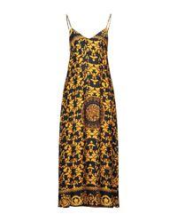 Religion Metallic Langes Kleid