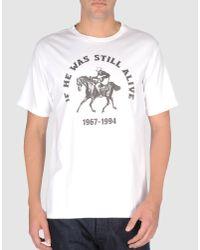 Number (n)ine   White Short Sleeve T-shirt for Men   Lyst