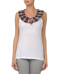 DSquared² - White Top - Lyst