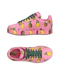 Dolce & Gabbana Pink Low-tops & Sneakers