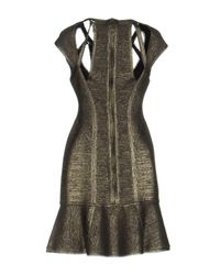 Hervé Léger Multicolor Short Dress