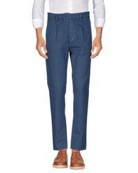 Cruna Blue Casual Trouser for men