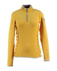 Napapijri - Yellow Sweatshirt - Lyst