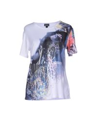 Just Cavalli - White T-shirt - Lyst