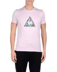 Le Coq Sportif Purple T-shirt for men