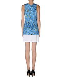 Balenciaga - Blue Short Dress - Lyst