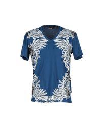Just Cavalli - Blue T-shirt for Men - Lyst