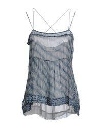Étoile Isabel Marant Blue Zino Silk Blouse