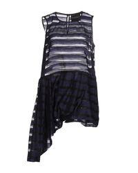 Erika Cavallini Semi Couture - Blue Top - Lyst