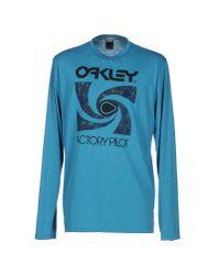 Oakley   Blue T-shirt for Men   Lyst